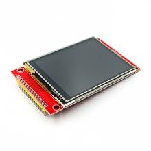"""5 sztuk/partia 240x320 2.8 """"SPI TFT LCD Panel dotykowy moduł portu szeregowego z PCB ILI9341 5V/3.3V"""