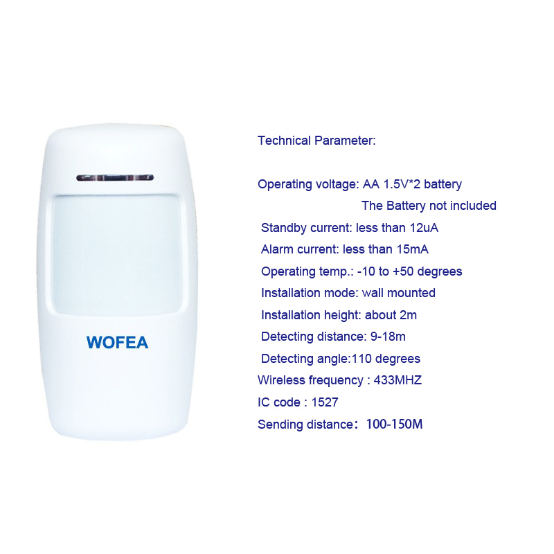 WOFEA Russian English Spanish France voice  Smart Home Security GSM Alarm System Remote Control by SMS & Calling with LCD keypad 21