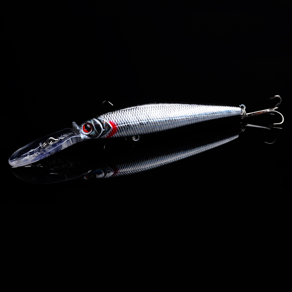 125mm Artificial Trolling Minnow Wobbler Sea Fishing Bait Lures Stripe Carp Crankbait Pesca Jerkbait With Hook For Lake River in Fishing Lures from Sports Entertainment
