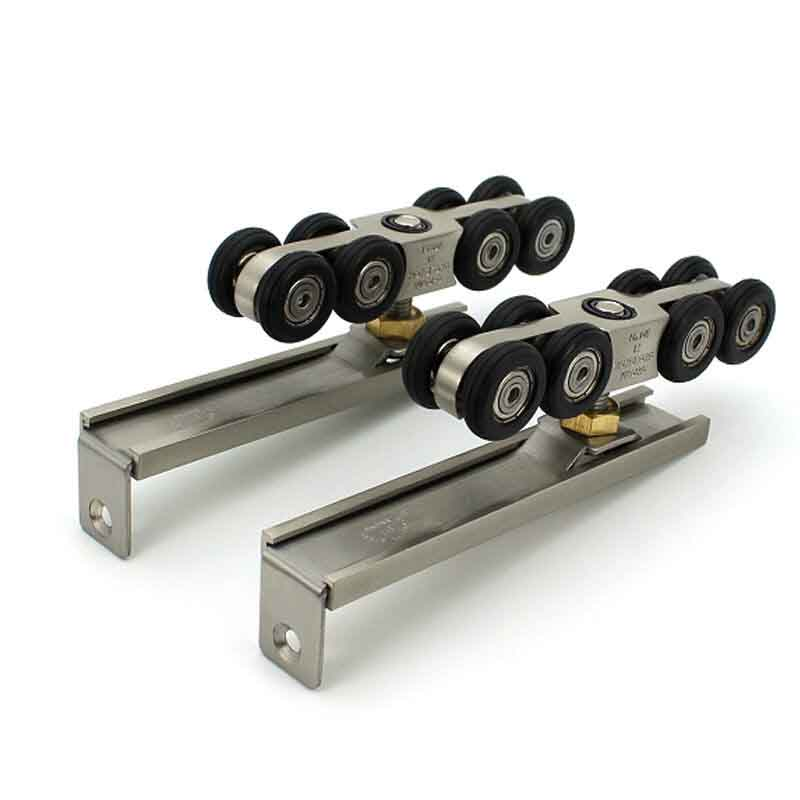 VIBORG Super quiet smooth Hanging Sliding Door Hardware Set kit Sliding  Door Closet Door Wheels Roller. Popular Sliding Closet Door Rollers Buy Cheap Sliding Closet Door