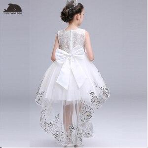 Image 4 - Menina vestido de verão branco princesa 3 14 anos menina vestido de festa robe fille crianças marca vestidos formatura