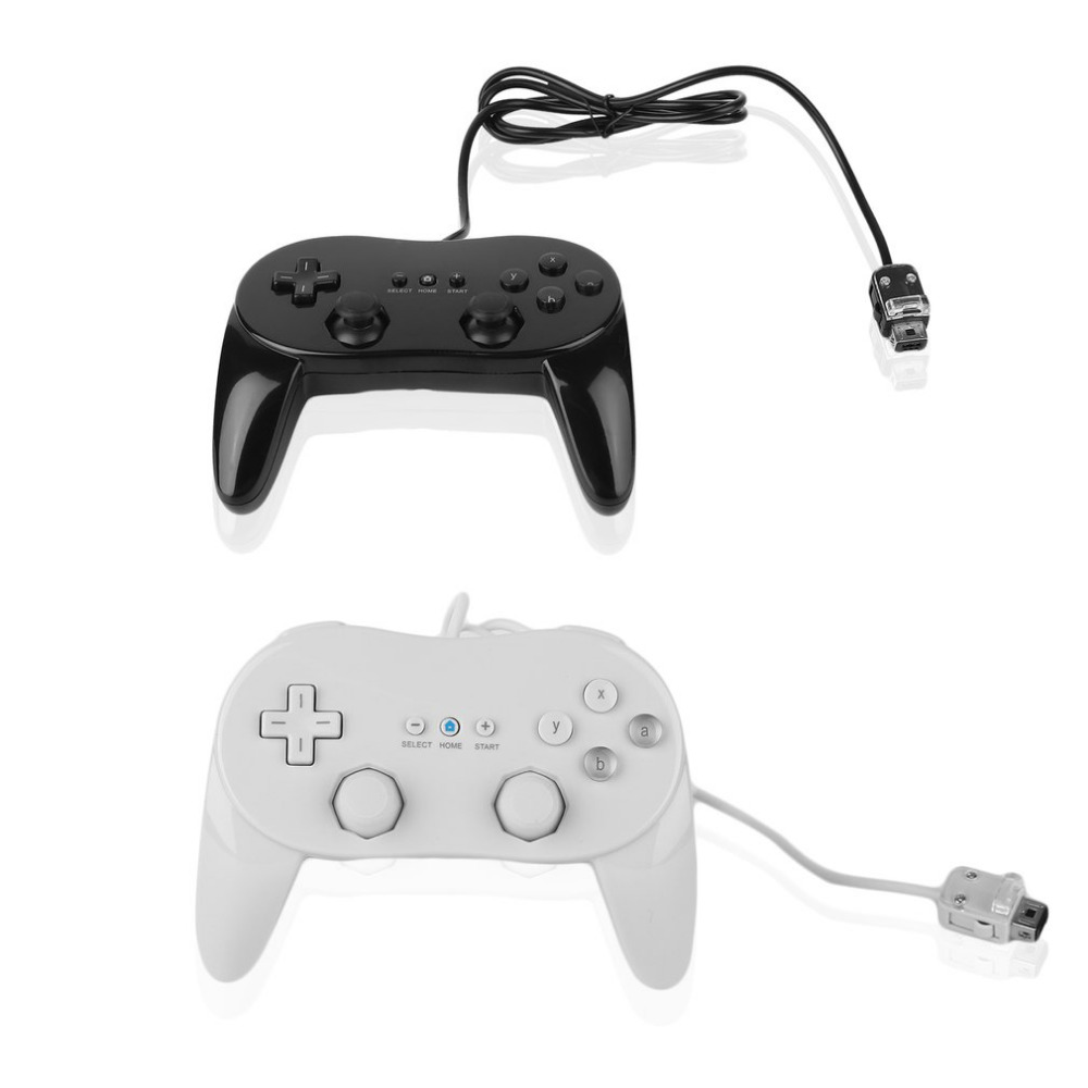 Classic Wired Game Controller Gaming Remote Pro Gamepad Shock Joypad Joystick For Nintendo Wii Second-generation wireless controller gamepad joystick for wii u pro