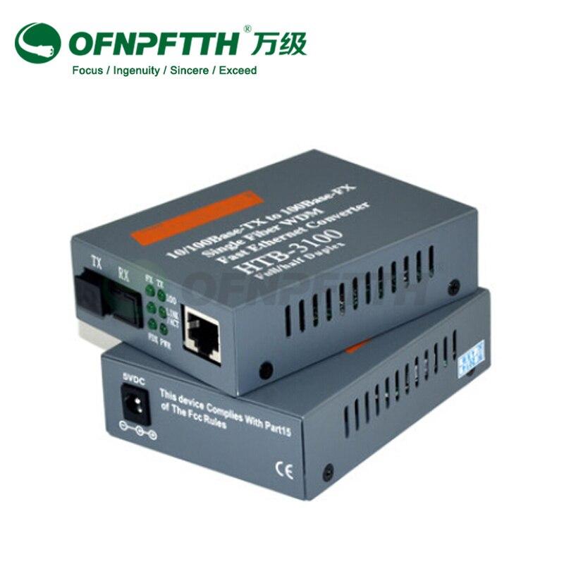 8 RJ45 Media Optic Converter HTB-3100 100Mbps Fiber Optical Media Converter