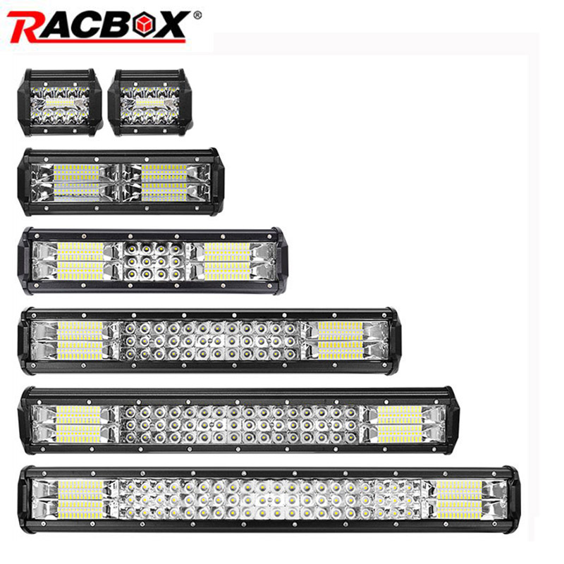 4 7 10 12 18 20 23 Inch Offroad LED Light Bar Flood Spot Combo Beam Work Light Fog Light Spotlight For UAZ KTM SUV ATV Headlight