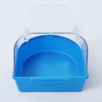1Pc Plastic Bird Water Bath Box Bathtub Parrot For Parakeet Lovebird Finch Pet Cage Hanging Bowl Parakeet Birdbath 3