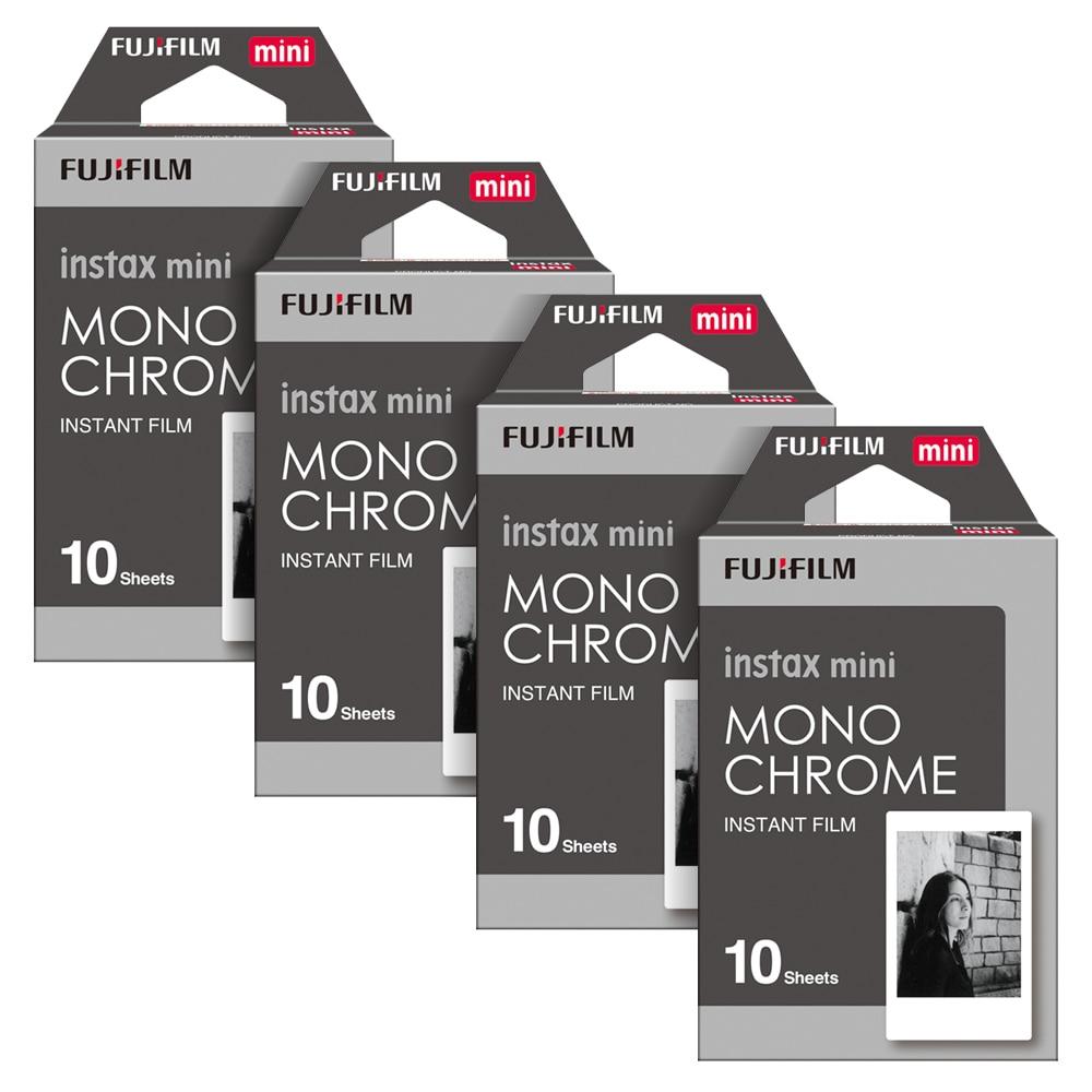 Fujifilm Instax Mini Instant 40 Film Monochrome für Fuji Mini 7 s 8 8 + 9 25 50 s 70 90 300 SP-1 2 Drucker