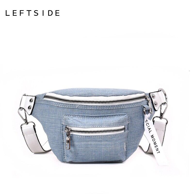 LFEFSIDE 2018 Fashion Denim Waist Bag Female Fanny Packs Lady's Belt Bags Women Travel Chest Bag Hight Quality Black