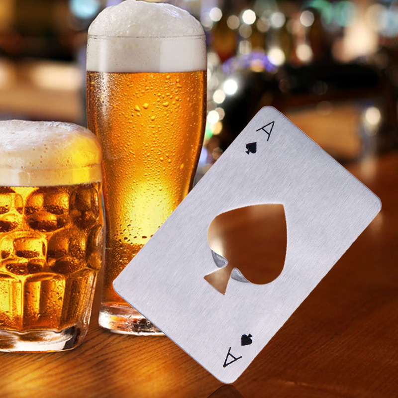 Hot Sales 1PC Poke Card Beer Bottle Opener Personalized Stainless Steel Credit Card Bottle Opener Card Bar Drinking Accessories