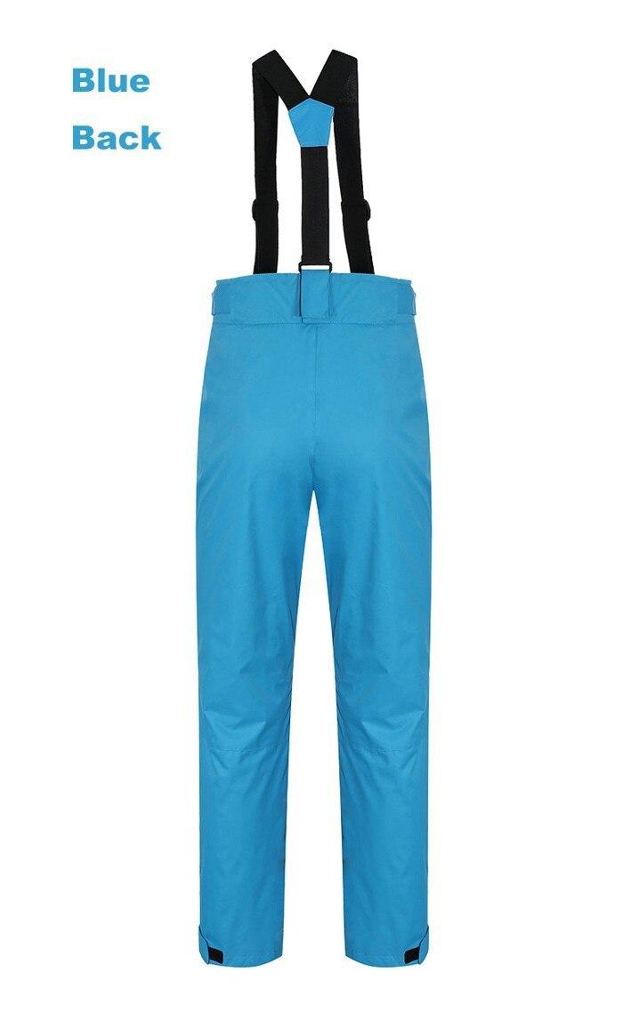 Sj-maurie pantalons de ski de neige sport femme pantalon de Snowboard bretelles détachables vêtements en molleton pantalon de Snowboard solide - 2