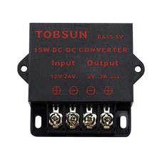 12V 24V to 5V 3A 15W DC DC Converter Step Down Buck Module Transformer Voltage Regulator Universal Power Supply for LED Car TV universal dc 24v to 12v 30a car power converter supply transformer black