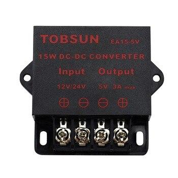 цена на 12V 24V to 5V 3A 15W DC DC Converter Transformer Step Down Buck Module Voltage Regulator Universal Power Supply for LED TV Solar