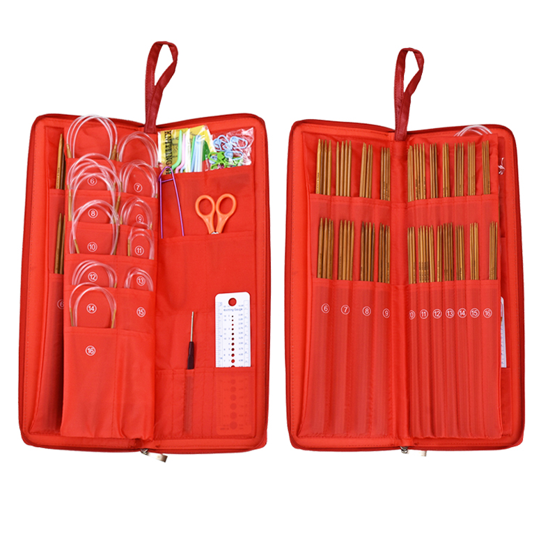 133pcs Straight//Circular Knitting Needles Set With Case Weave Sewing Tools
