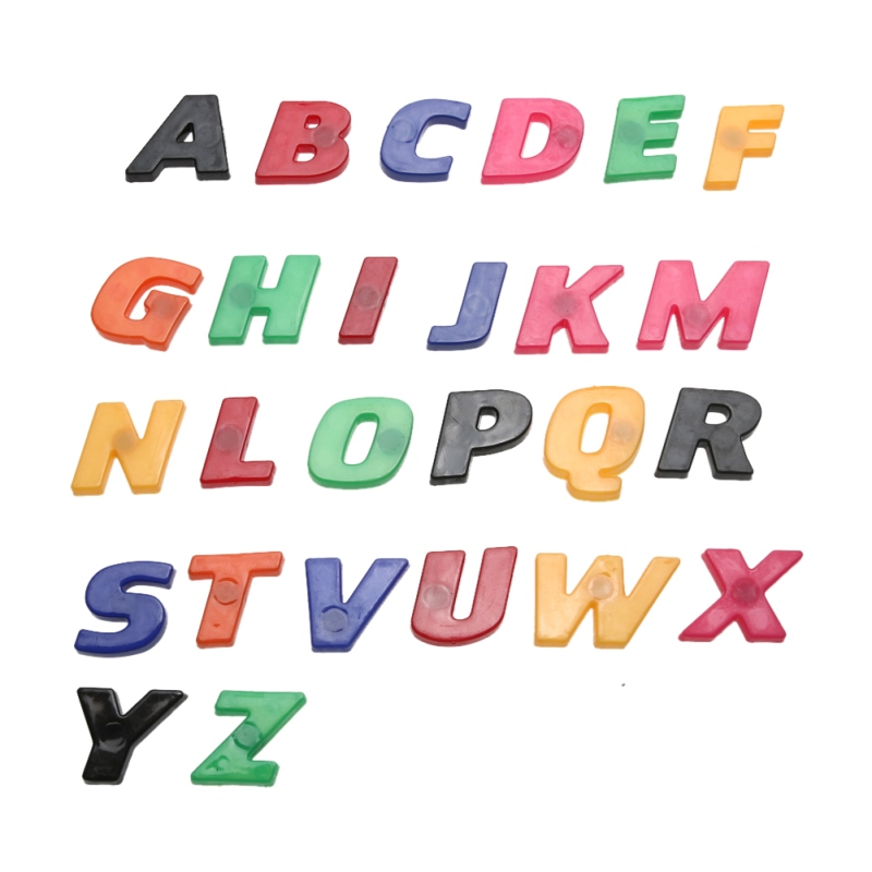 colorful abc alphabet fridge magnet early learning educational toys 26pcs