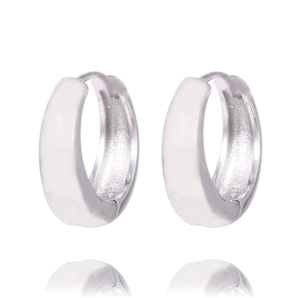 SHUANGR fashion high quality Silver Color Hoop Earrings Elegant Fine Jewelry For Femme Brincos For Women