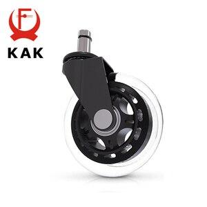"Image 5 - 5 قطعة KAK 3 ""العالمي كتم عجلة عجلة كرسي مكتب استبدال 60 كجم عجلات المطاط لينة آمنة الأسطوانة الأثاث عجلة الأجهزة"