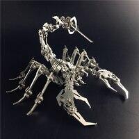 MMZ MODEL SteelWarcraft 3D metal puzzlel Scorpion KING animal Assembly metal Model kit DIY 3D Laser Cut Model puzzle Desktop