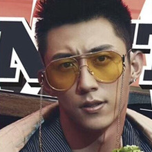 Korean version large frame sunglasses retro metal double-beam Sunglasses fashionable ocean Lens Sunglasses цены