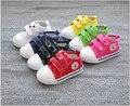 2016New Горячие продажа Обуви внутренняя длина 13 ~ 16.3 см Детская Обувь для ребенка Кроссовки Мальчиков спортивная обувь девочек холст обувь конфеты ТВЕРДЫЕ