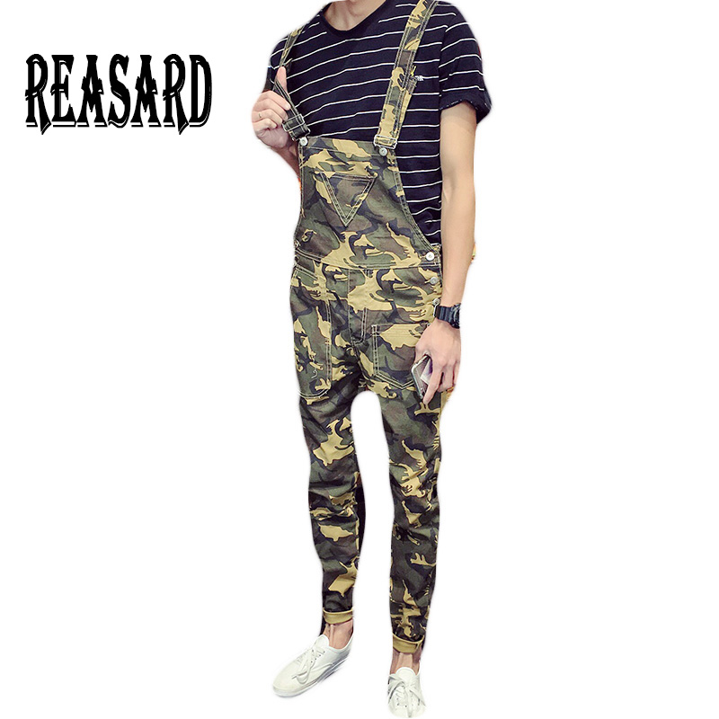 Eerlijk Fashion Brand Denim Jumpsuit Mannen Casual Broek Multi Pockets Hip-hop Overalls Voor Mannen Camouflage Outdoors Lange Broek Mb16298 Verlichten Van Reuma En Verkoudheid