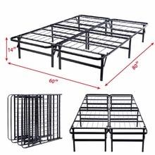 GOPLUS Queen Size Platform Metal Bed Frame Mattress Foundation 80'' 60'' 14'' HW51148