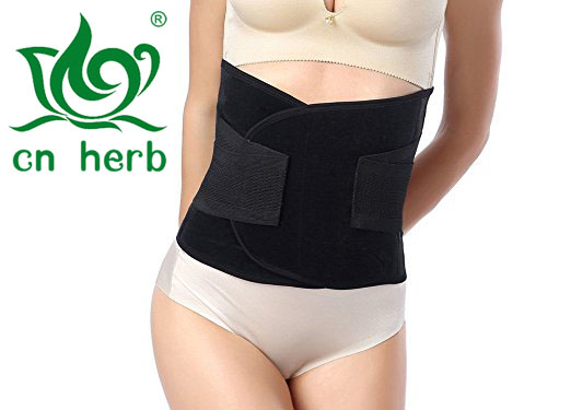 CN Herb Waist Trimmer Belt Premium Trim Curves Trainer Adjustable Ab Sauna Stomach Body Wrap Back