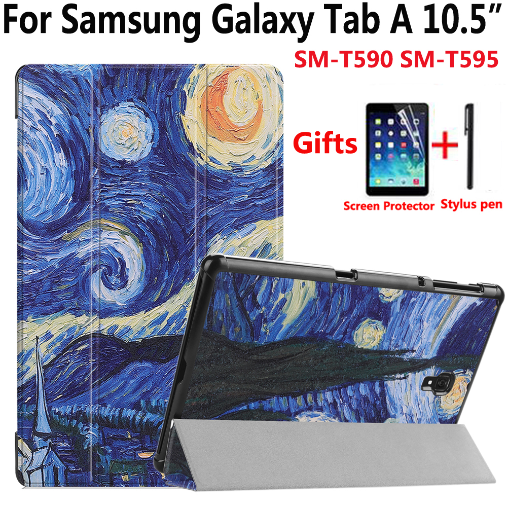 Magnetic Case For Samsung Galaxy Tab A 10.5 2018 SM-T590 SM-T595 T590 T595 High Quality Smart Cover