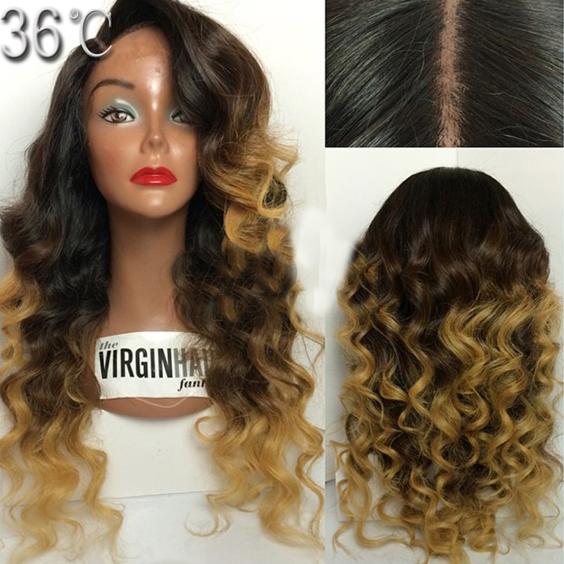 Best Rpg Show Ombre Full Lace Wigs Human Hair Two Tone