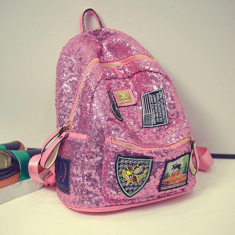 Высокое качество PU школы Рюкзаки модные Блёстки рюкзак для подростков Обувь для девочек элегантный дизайн для девочек Школьные ранцы Mochila ...