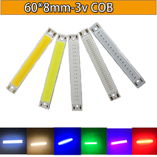 5PCS Red /warm white/white/Blue Color LED COB Source Bar chip diodes2.5W / 5W strip beads low voltage 3V For DIY light