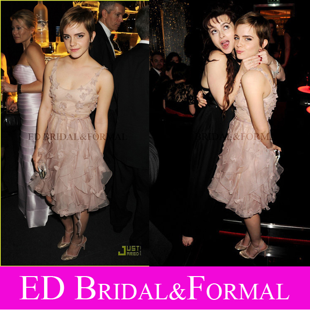 Emma Watson Vestido Floral Homecoming Cocktail Par.