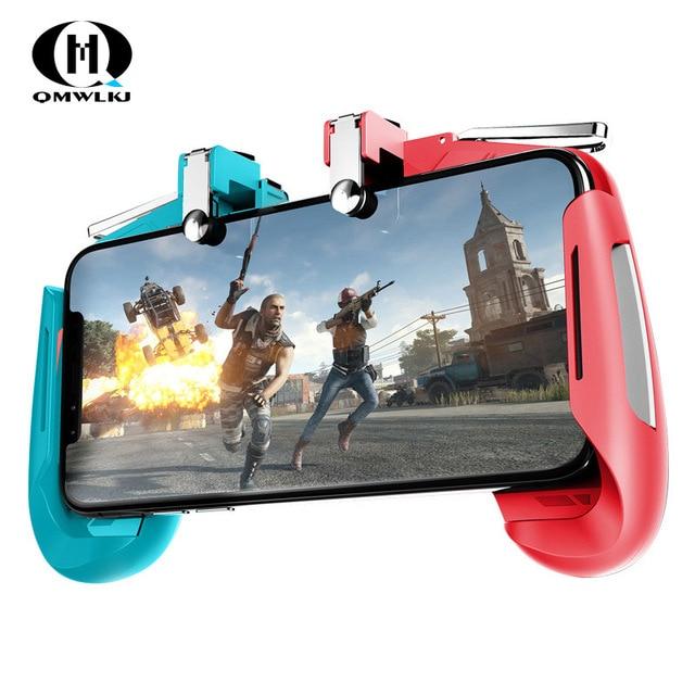 AK16 Metal Smart Phone Mobile Gaming Trigger For PUBG Controller Gamepad  L1R1 Button Aim Shooter Joystick Game Pad