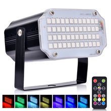 Strobe Stage Light Disco Bar Music Party 48 RGB Remote Control Mini Lights Festival Glow Supplies Carnival Lighting