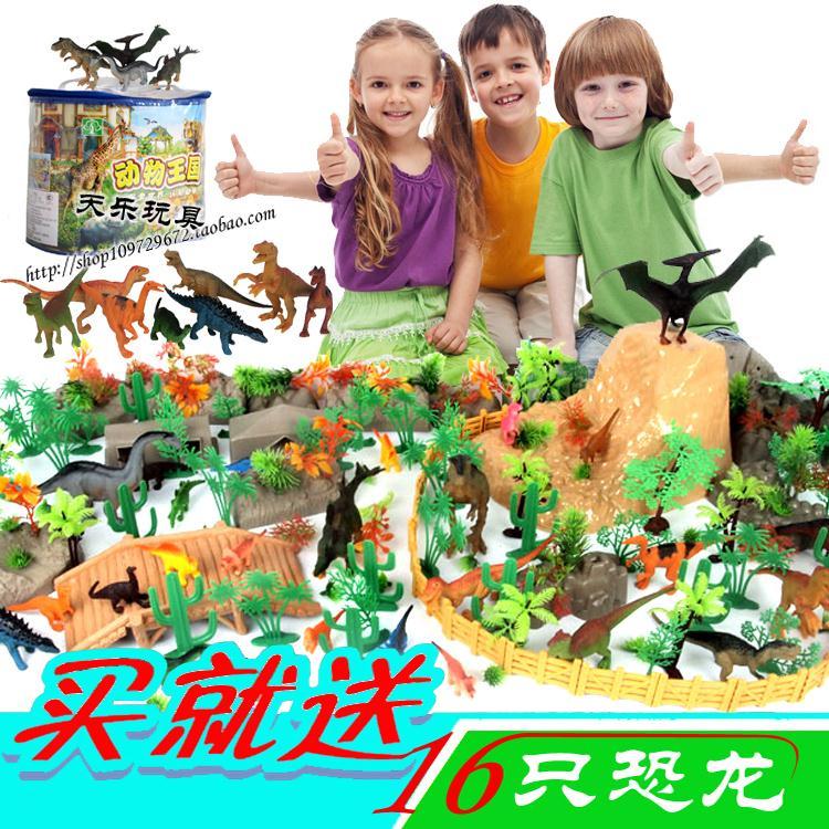 ФОТО miniature accessories Dinosaur toy set dinosaur model Kits set dinosaur Ranch animal model animal toys