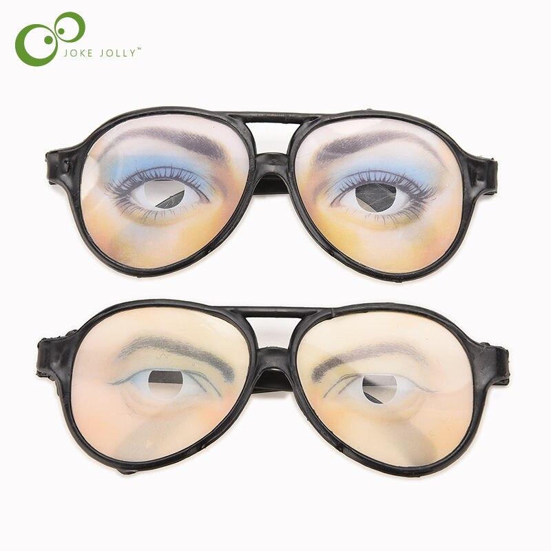 New HALLOWEEN PARTY Funny Glasses Fake Novelty Gag Prank Eye Ball Joke HI