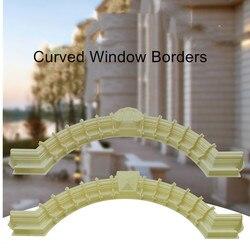 90 cm/35.43in GRC Hause Wand Dekoration ABS Verriegelung Diamant & Blume Top Zement/Beton Guss in Ort fenster Grenze Arc Form