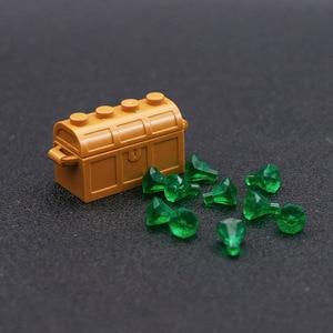 Image 4 - Accessori per città mattoncini da costruzione scatola per gioielli gemma pietra preziosa figura pirata dei caraibi giocattolo del tesoro compatibile con lego