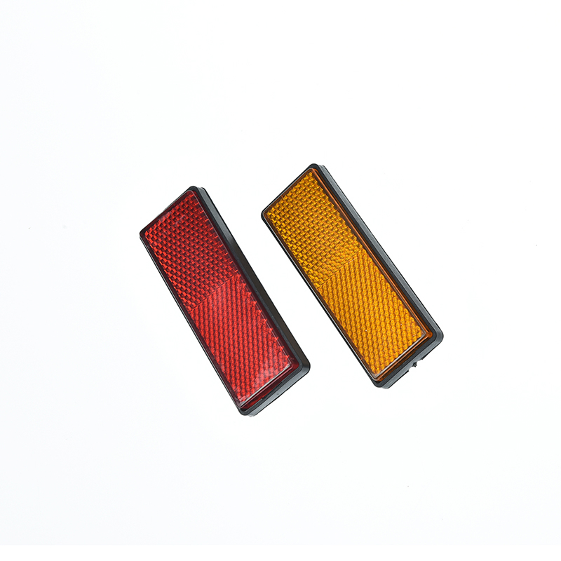 Back Reflective Board Mountain MTB Bicycle Rack Tail Safety Warning Lamp Cycling Bike Rear Reflector Light Red Orange 87*32*9mm