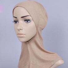 Free Shipping Muslim Head Scarf Women Fashion Hijab Undercover Caps Bonnet Islamic Cover Hat