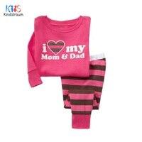 Kindstraum 2016 Children 100 Cotton Sleepwear Brand Kids Cartoon O Neck Pajamas Fashion Spring Autumn Baby