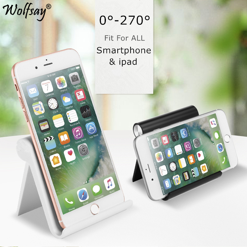 Wolfsay Universal Holder For Your Mobile Phone Folding Adjustment Bracket Redmi Note 8 Pro For Huawei P30 Tablet Stand Bracket