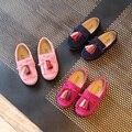 Primavera meninas shoes crianças borla de couro da criança do bebê shoes doce cor crianças meninas sneakers princesa sapatos fundo macio