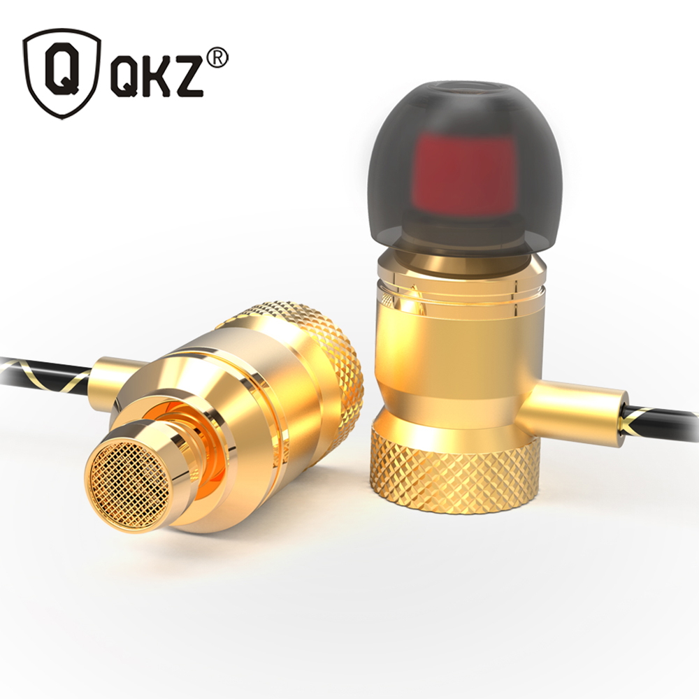 QKZ X5 100% Original Metal Earphones In-Ear Bass Headset For Phone Audifonos DJ Music Earphone Fone De Ouvido HIFI Headset ufo pro metal in ear earphones treadmill female drug sing karaoke audio headset diy mobile phone