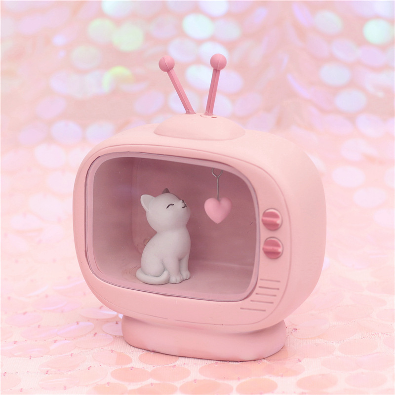 Kawaii Cat Music Box Mini Lamp 1