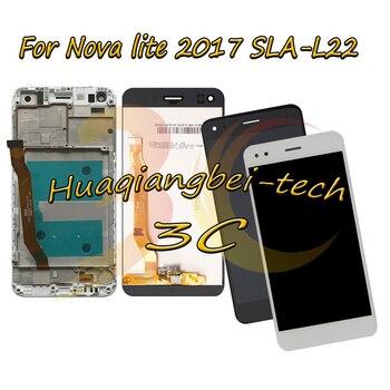 5,0 ''nueva para Huawei Nova lite 2017 SLA-L22 completa LCD pantalla + pantalla táctil digitalizador Asamblea + cubierta de Marco 100% probado