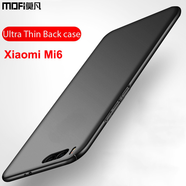 Xiaomi mi6 case hard back luxury full cover mofi ultra thin coque black phone case capas funda coque xiaomi mi6 case