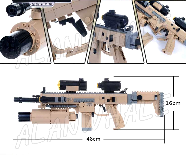 767PCS New CZ805 BREN A1 Model Toy Gun Weapon For Military Assault Soldiers Building Kit Blocks Toys Brick Compitable with Lego