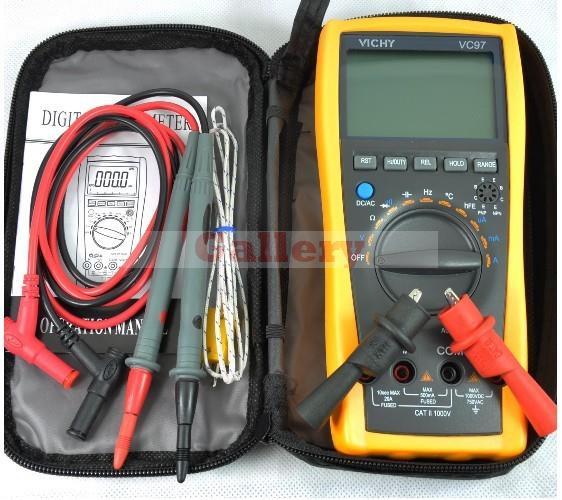 VC97 Auto Range DMM AC DC Voltmeter Capacitance Resistance Digital Multimeter Tester RCF Diode Buzz  цены