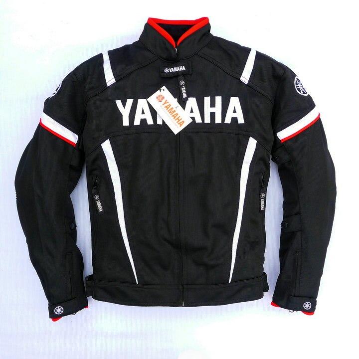 Maille d'été moto rcycle vestes moto Racing Vestes Coupe-Vent pour Yamaha moto r Avec 5 pièces Protecteur Hommes Veste Chaqueta ROUGE