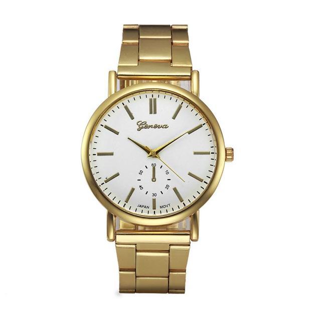 4399b31b58b Moda Relógio de Aço Inoxidável Das Mulheres de Cristal de Quartzo Analógico  Relógio de Pulso Mulheres