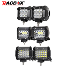 4 inch Dual Triple Quad Row LED Work Light Bar Flood Spot Combo Beam 12V 24V Truck 4WD ATV UTV UAZ Motorbike LED Extra Work Lamp